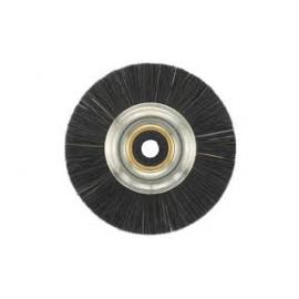 Polírozó kefe, fém középponttal