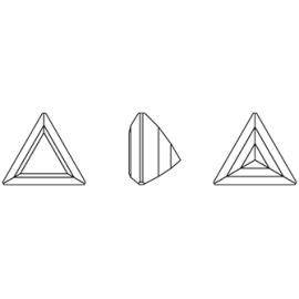Cirkónia háromszög fehér